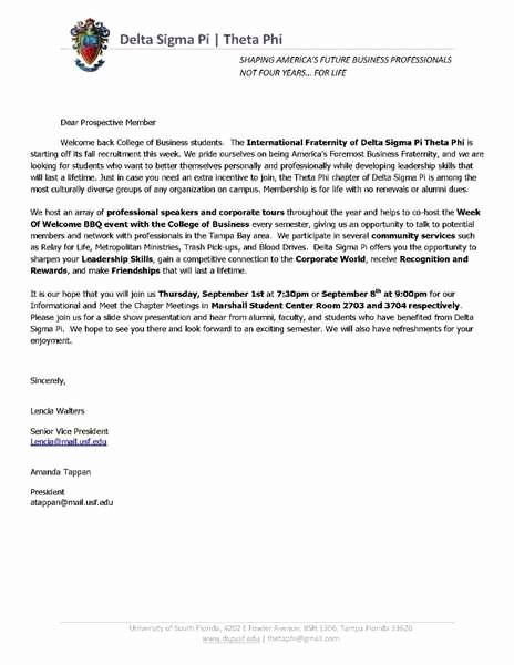 Sample sorority Recommendation Letter Awesome sorority Re Mendation Letter Letter Of Re Mendation