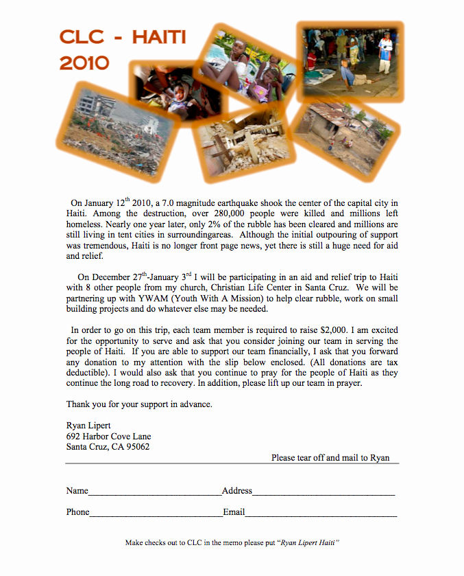 Sample Support Letter for Mission Trip Beautiful Random at Best Haiti Mission Trip