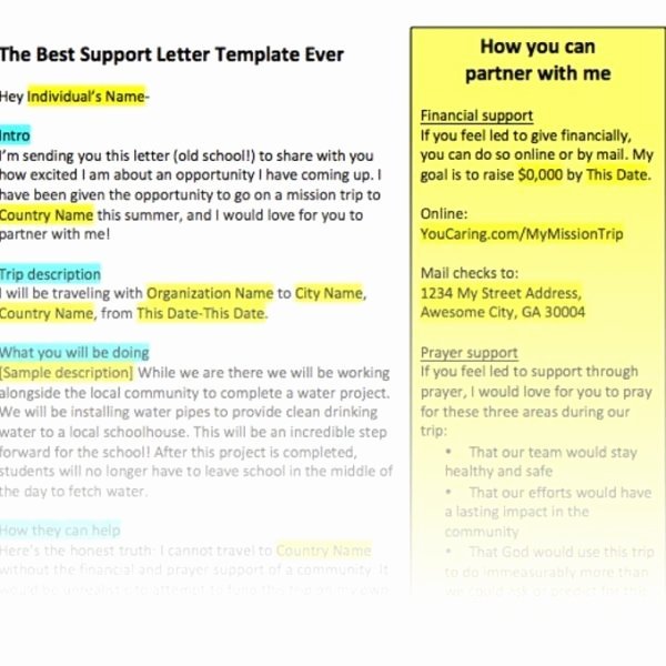 Sample Support Letter for Mission Trip Luxury 43 Best About Fundraising Pinterest