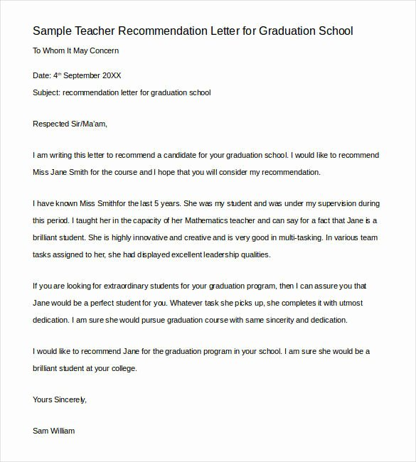 Sample Teacher Letter Of Recommendation Awesome Re Mendation Letter for Training Course