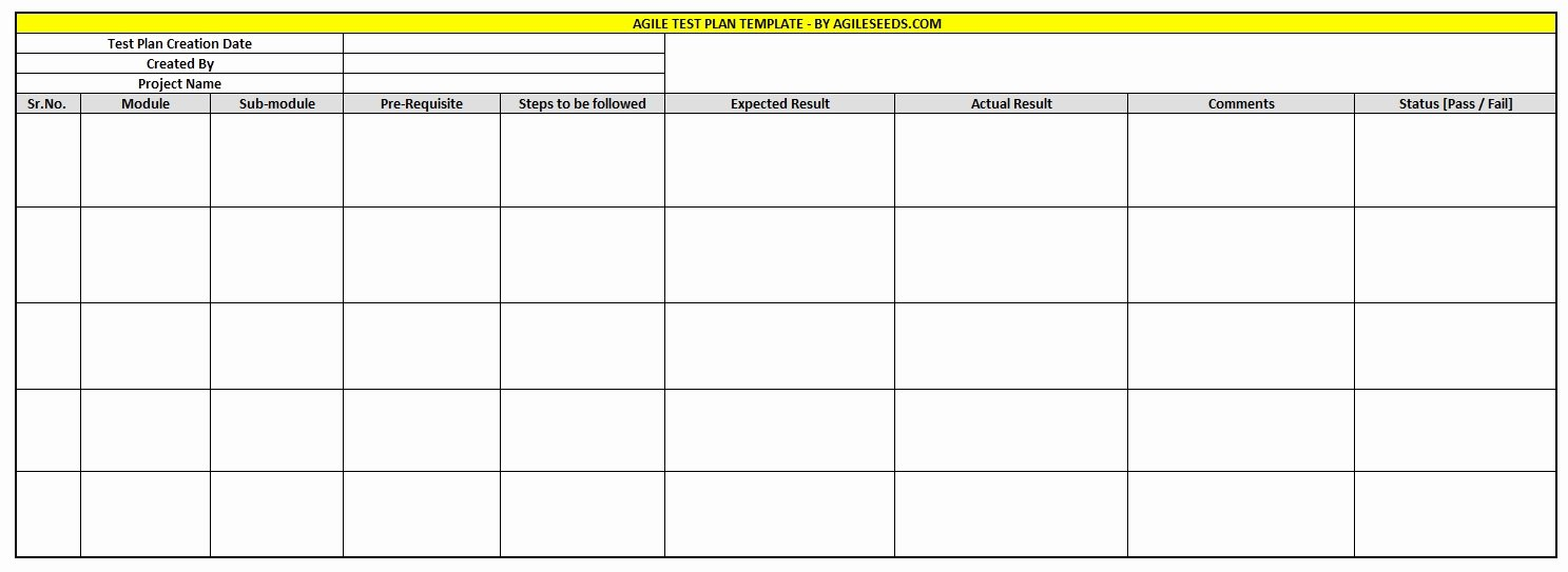Sample Test Plan Template Best Of Agile Test Plan Template – Samples & Best Practices