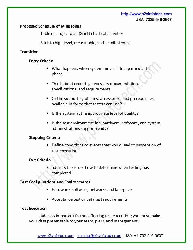 Sample Test Plan Template Best Of Sample Test Plan Doc