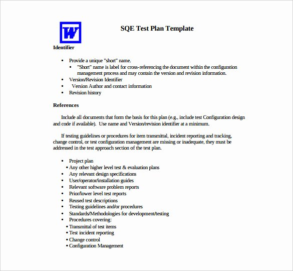 Sample Test Plan Template Fresh 15 Test Plan Templates Pdf Doc