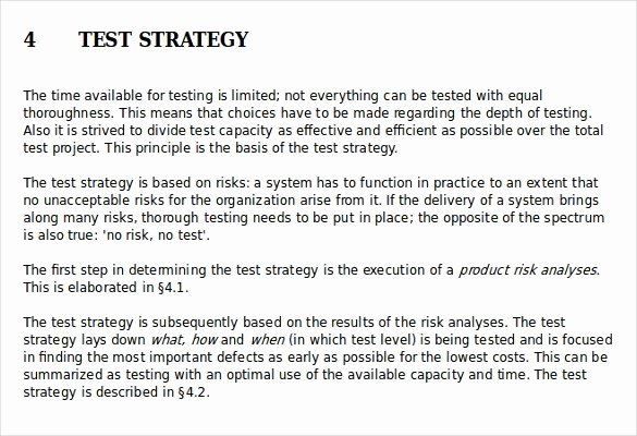 Sample Test Plan Template New Test Strategy Template – 11 Word Pdf Ppt Documents
