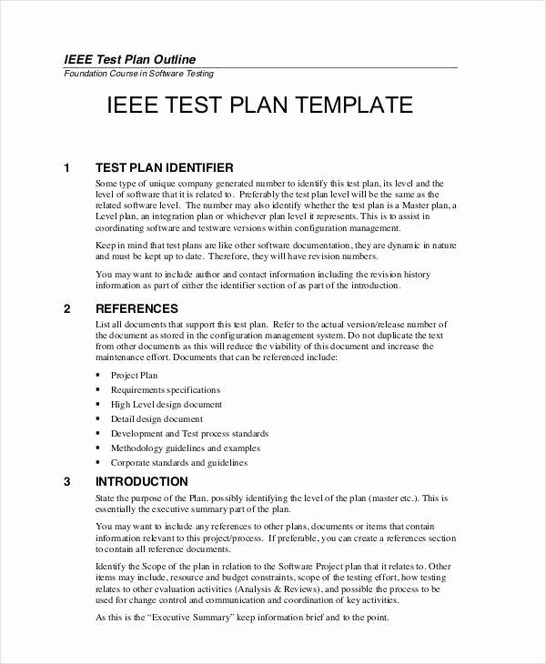 Sample Test Plan Template Unique 7 Sample Test Plan Templates