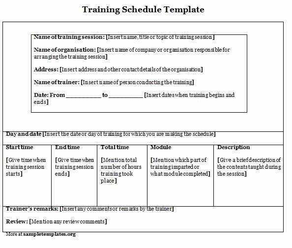 Sample Training Plan Template Inspirational Agenda Template Category Page 1 Efoza