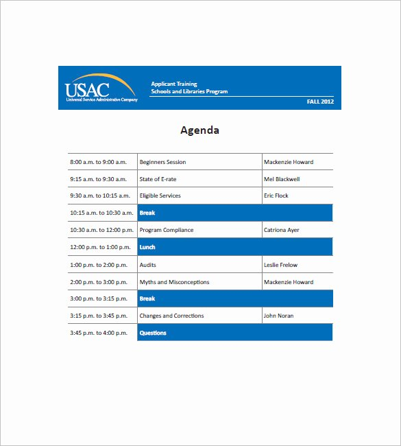 Sample Training Plan Template Luxury 10 Training Agenda Templates Free Sample Example