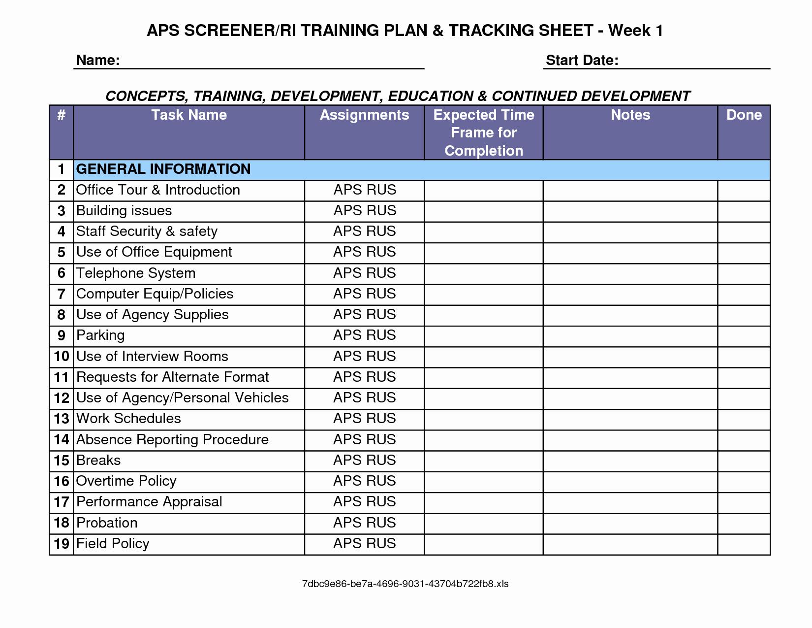 Sample Training Plan Template Luxury Training Plan Template