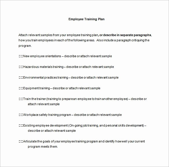 Sample Training Plan Template New 26 Training Plan Templates Doc Pdf