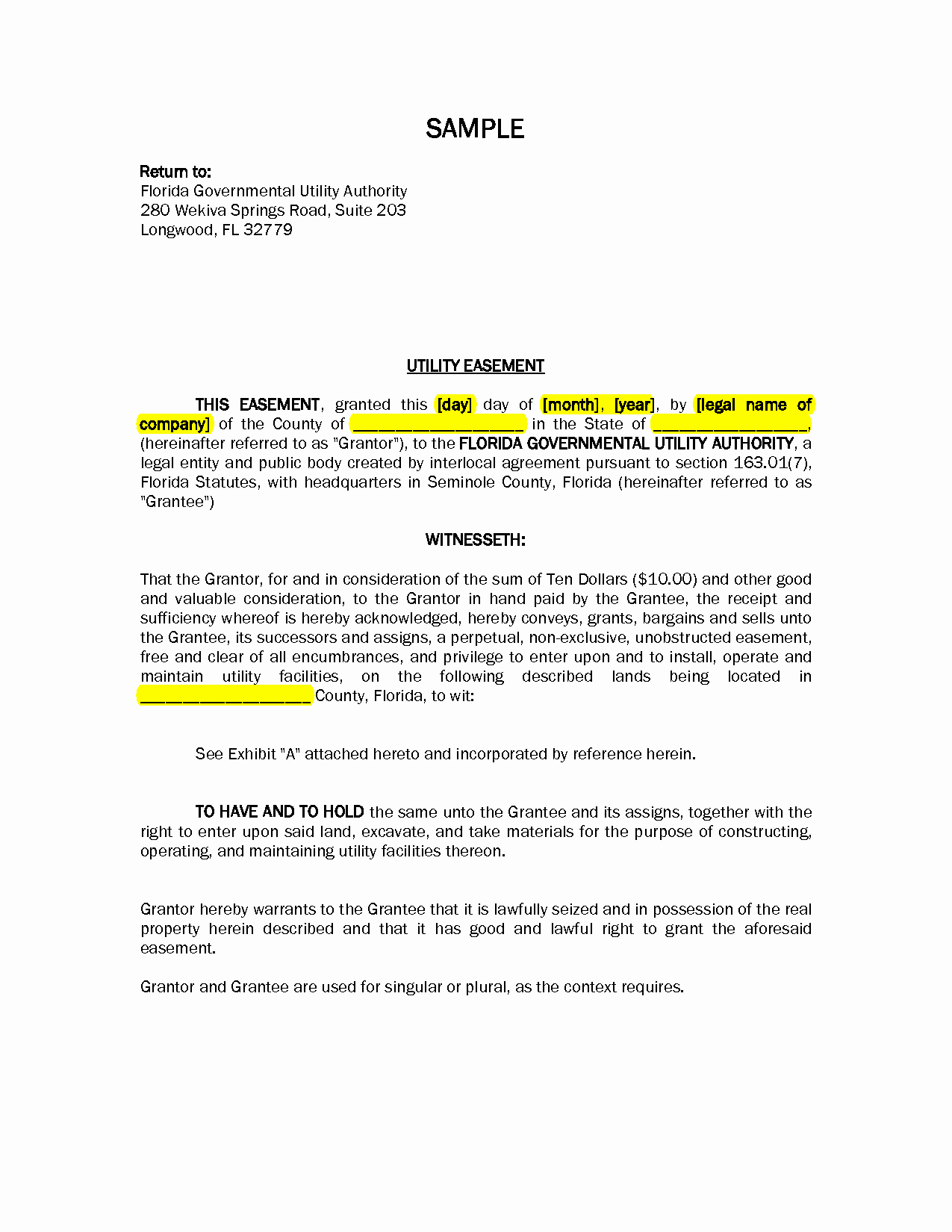 Sample Utility Easement Agreement Best Of Road and Utility Easement Letter Of Agreement Sample Pdf