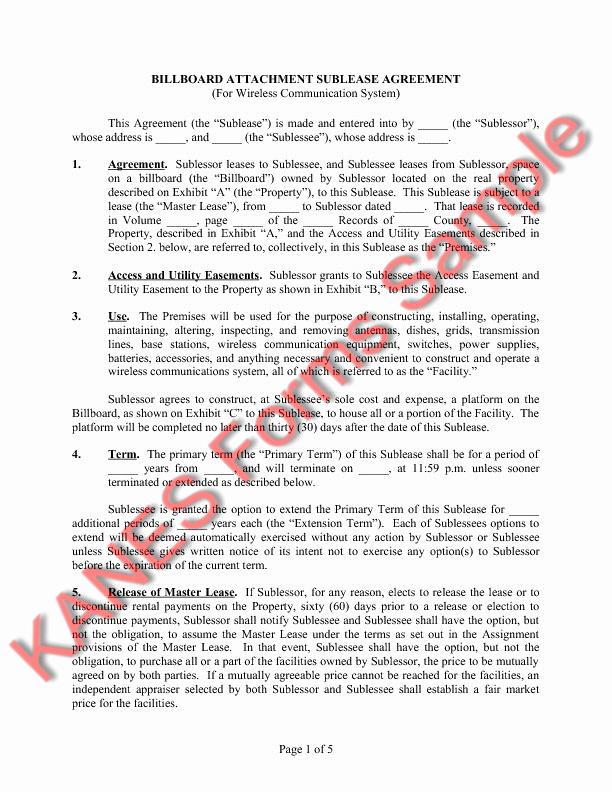Sample Utility Easement Agreement Elegant Sample Easement Language