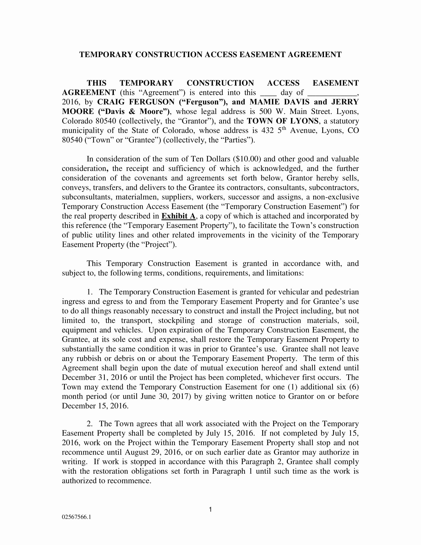 Sample Utility Easement Agreement Unique 10 Easement Agreement Contract forms Pdf