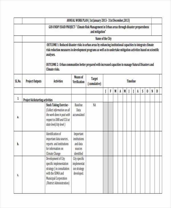 Sample Work Plan Template Unique 41 Work Plan Examples & Samples Pdf Word