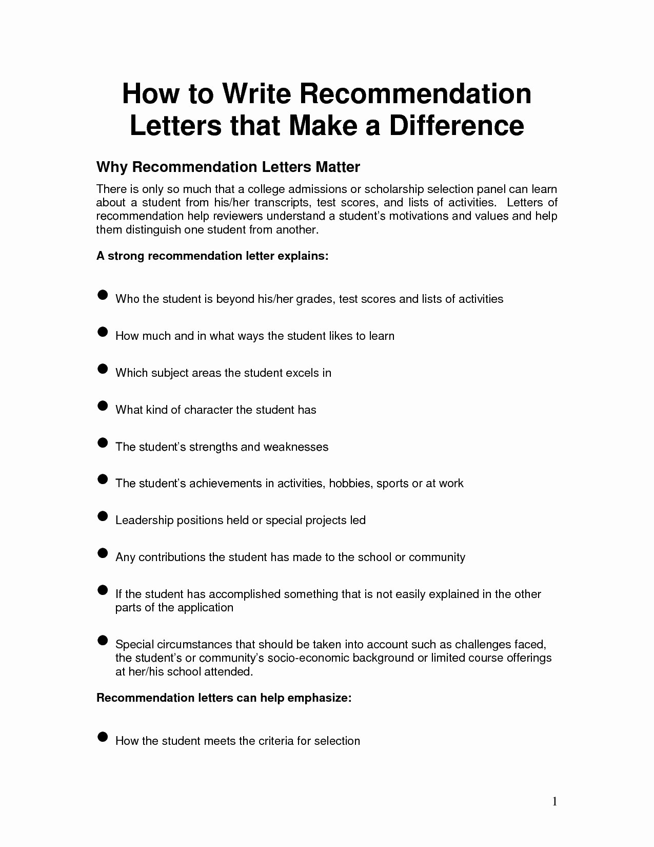 template for writing a letter of re mendation for a scholarship