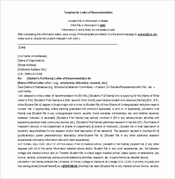 Scholarship Recommendation Letter Examples Beautiful 27 Letters Of Re Mendation for Scholarship Pdf Doc
