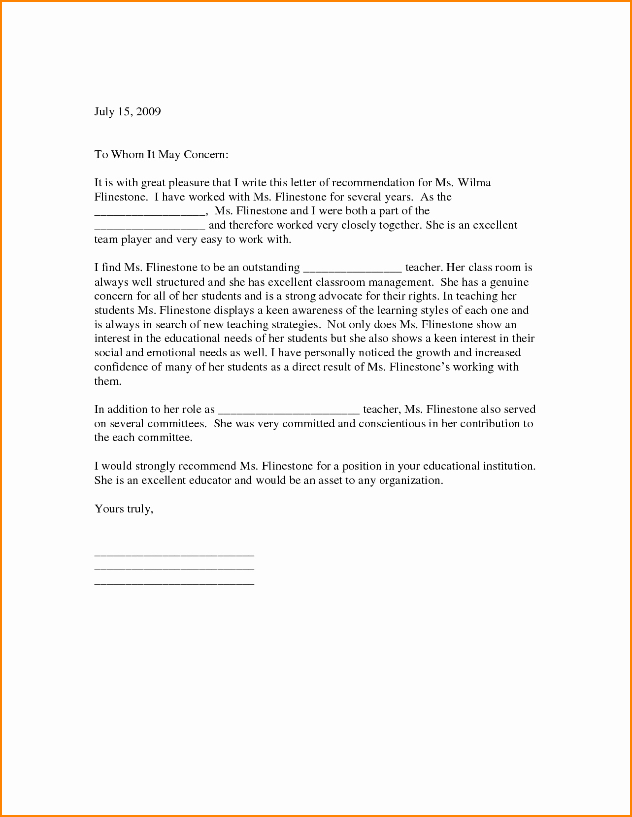 Scholarship Recommendation Letter From Teacher Beautiful 5 Letter Of Re Mendation for Scholarship From Teacher
