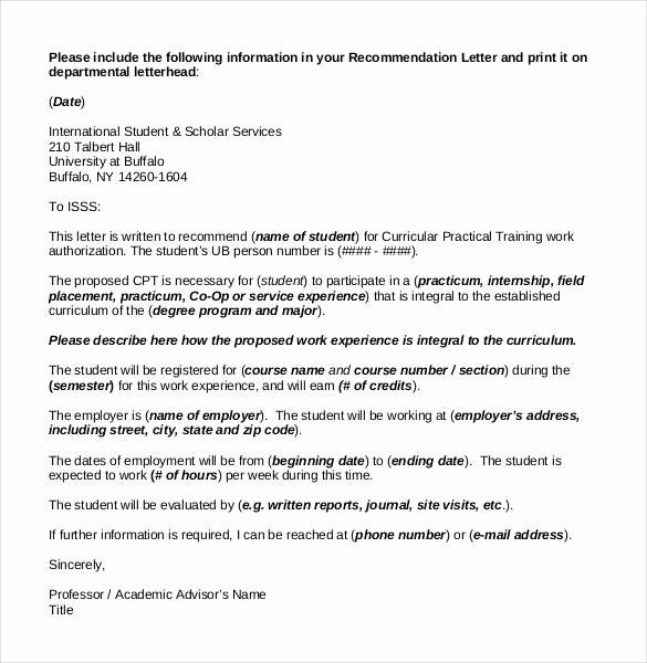 Scholarship Recommendation Letter Sample Inspirational 27 Letters Of Re Mendation for Scholarship Pdf Doc
