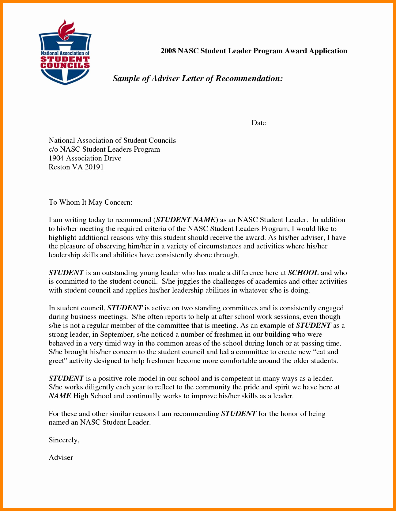 Scholarship Recommendation Letter Template Inspirational 5 Re Mendation Letter Sample for Student Scholarship