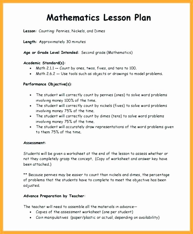 School Age Lesson Plan Template Best Of High School Lesson Plan Template Elegant Best Unit