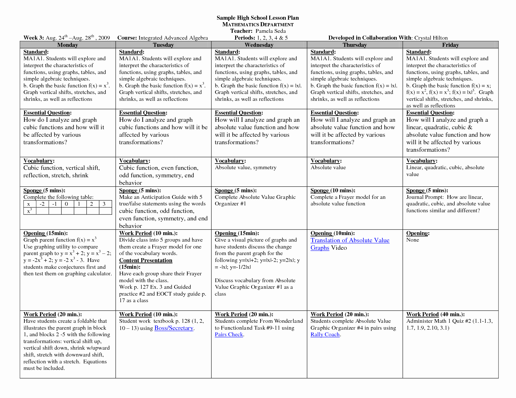 School Age Lesson Plan Template Lovely Math Lesson Plan Template High Schoolsample Hs Math Weekly