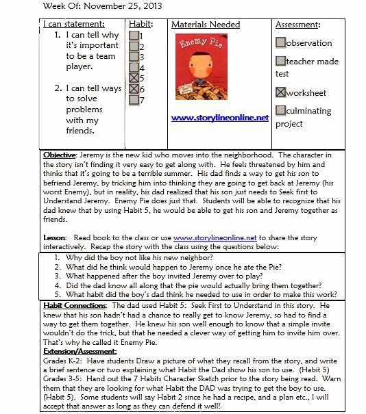 School Counselor Lesson Plan Template Beautiful Mrs Crabtree S Counseling Corner Sample Lesson Plan