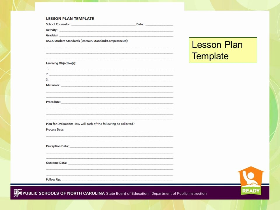 School Counselor Lesson Plan Template Inspirational Cynthia Martin Ed D Region 3 Pd Lead Ppt