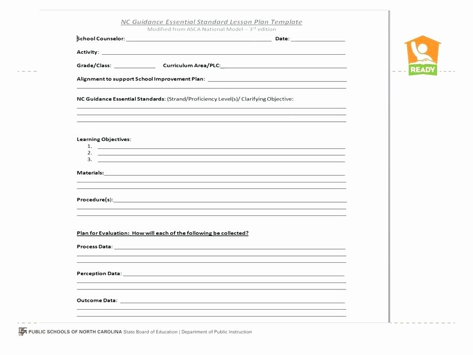 School Counselor Lesson Plan Template New after School Lesson Plan Template Counselor American Couns