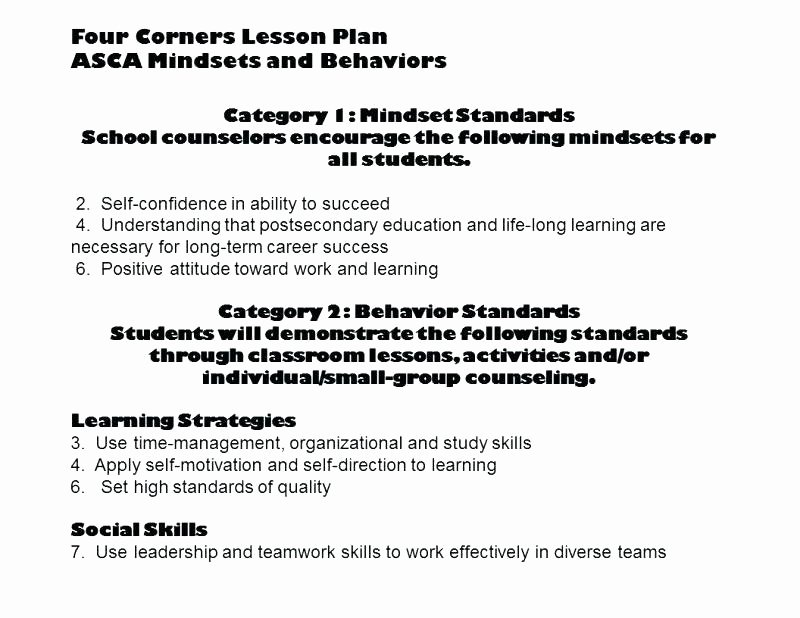 School Counselor Lesson Plan Template Unique Grade Mon Core Lesson Plan Template Maths Planning