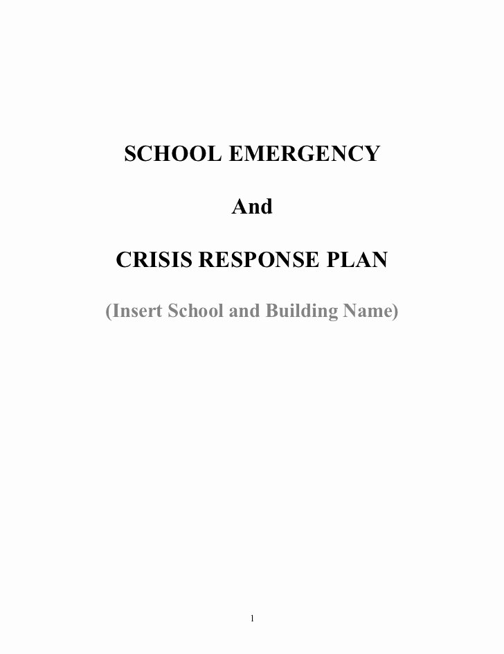 School Crisis Plan Template Best Of Crisis Management Plan for Calvary Chapel Christian School