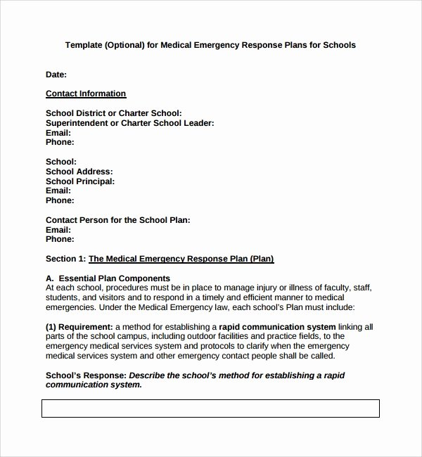 School Crisis Plan Template New 10 Emergency Response Plan Templates
