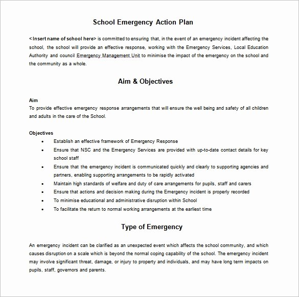 School Crisis Plan Template New 11 School Action Plan Templates Word Pdf