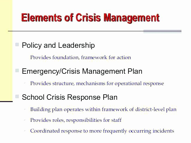 School Crisis Plan Template New Crisis Plan Template Fun Templates for Google Slides
