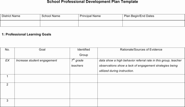 School Professional Development Plan Template Awesome Download School Professional Development Plan Template for