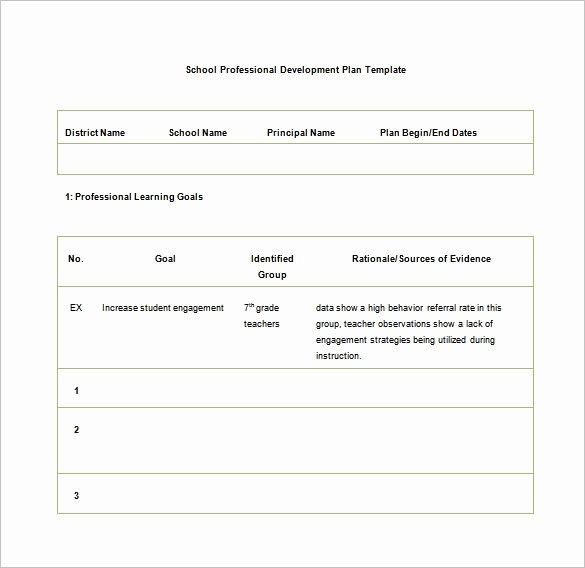 School Professional Development Plan Template Beautiful Development Plan Template 14 Free Word Pdf Documents