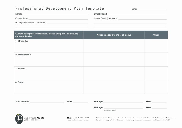 School Professional Development Plan Template Best Of Jpabusiness Professional Development Plan Template