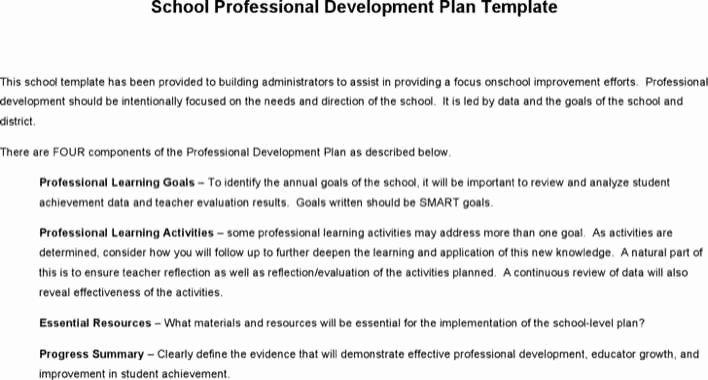 School Professional Development Plan Template Fresh Download School Professional Development Plan Template for