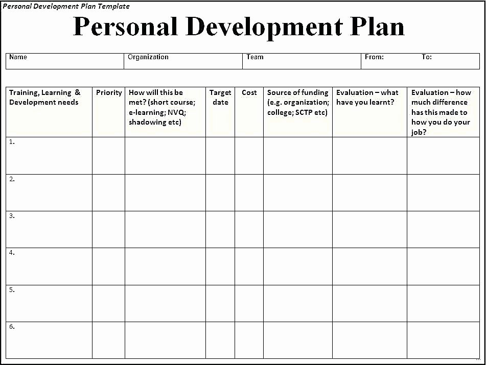 School Professional Development Plan Template Inspirational Individual Professional Development Planning for Teachers