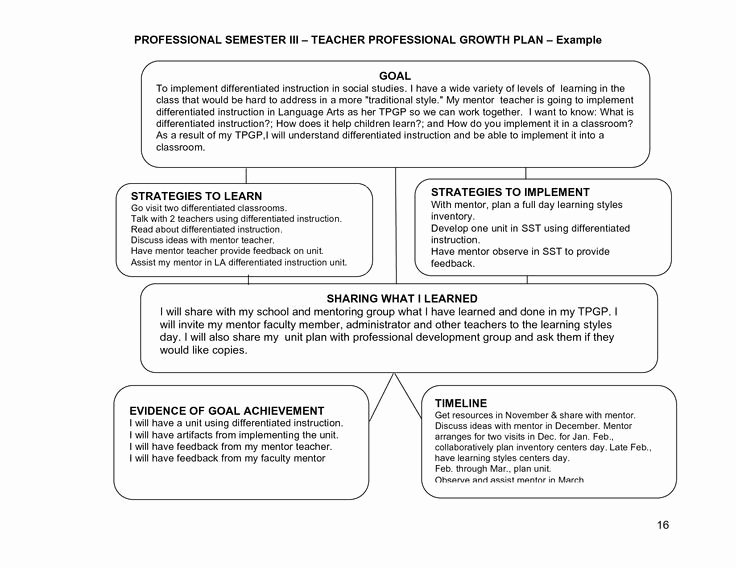 School Professional Development Plan Template Luxury Professional Learning Plan Examples Google Search