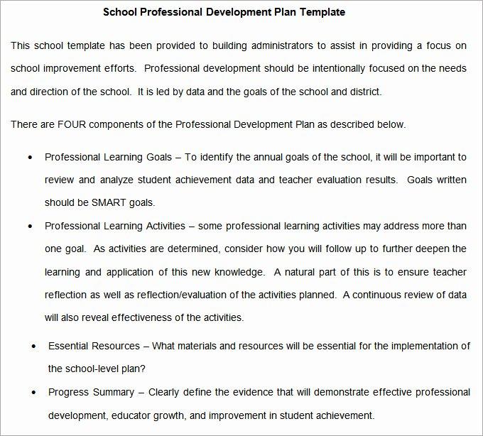 School Professional Development Plan Template Unique School Development Plan 8 Free Word Documents Download