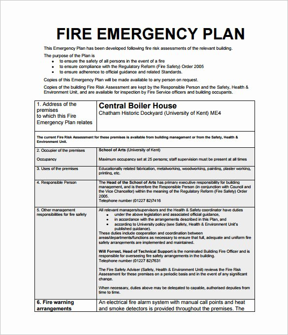 School Safety Plan Template Fresh Emergency Action Plan Template 8 Free Sample Example