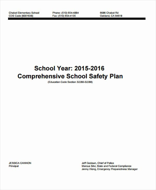 School Safety Plan Template Lovely 8 Safety Plan Samples & Templates