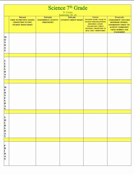 Science Lesson Plan Template Beautiful Oh My Science Teacher 5e Model Of Inquiry Lesson Plan