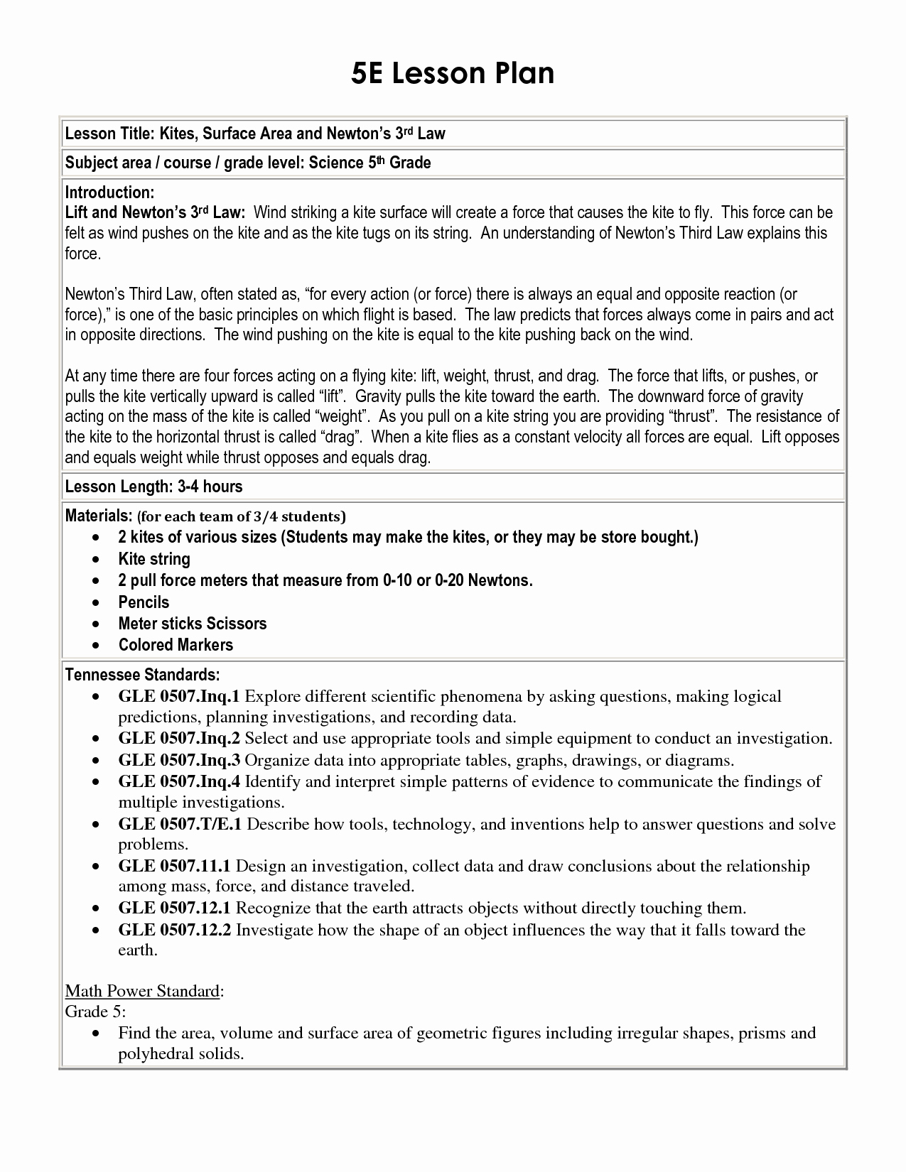Science Lesson Plan Template Luxury 5 E Lesson Plan Template