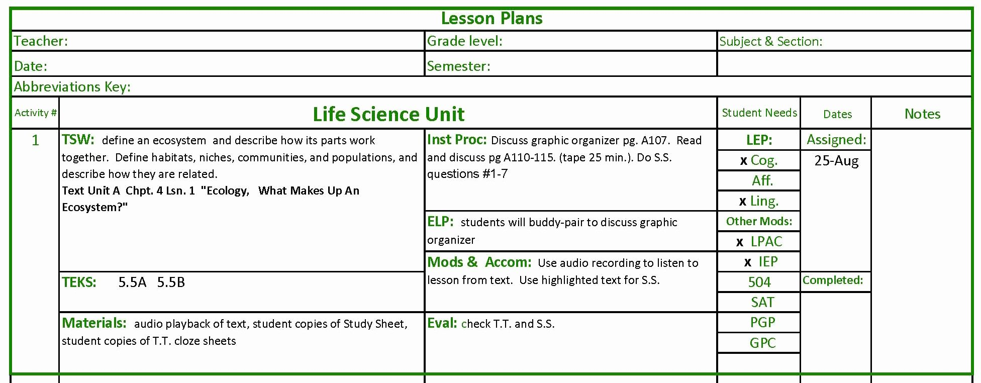 Science Lesson Plan Template Luxury Science Lesson Planning Jeriboyer