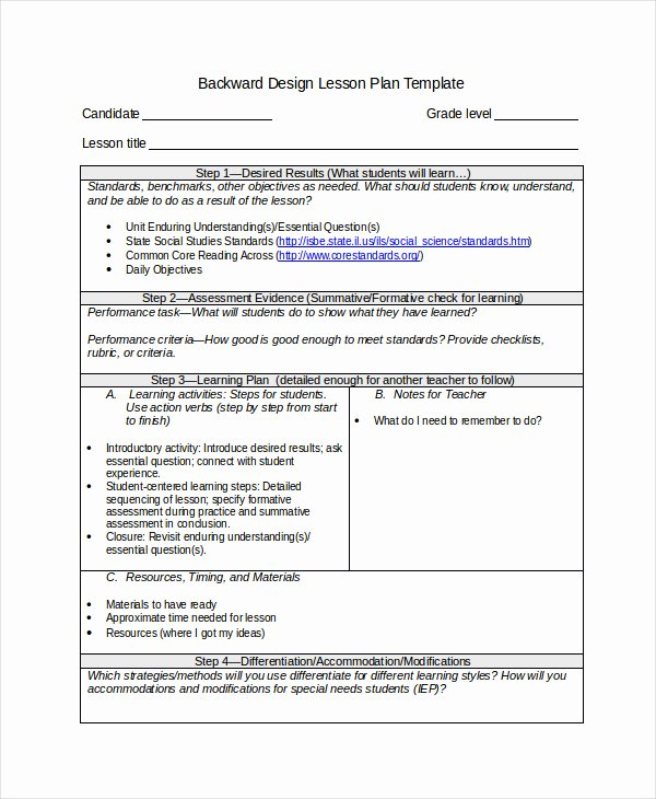 Science Lesson Plan Template Unique Pretty Understanding by Design Lesson Plan Template