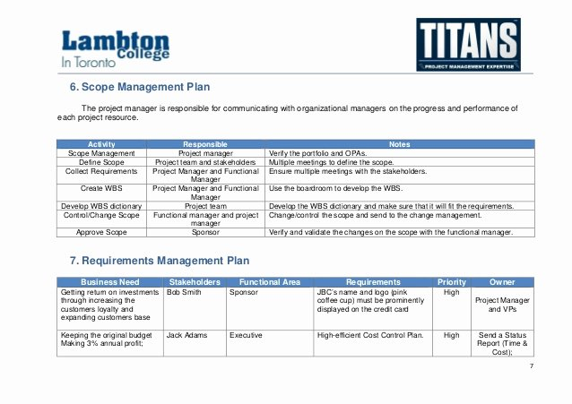 Scope Management Plan Template Beautiful Alpha Case Study Project Management Plan Sample