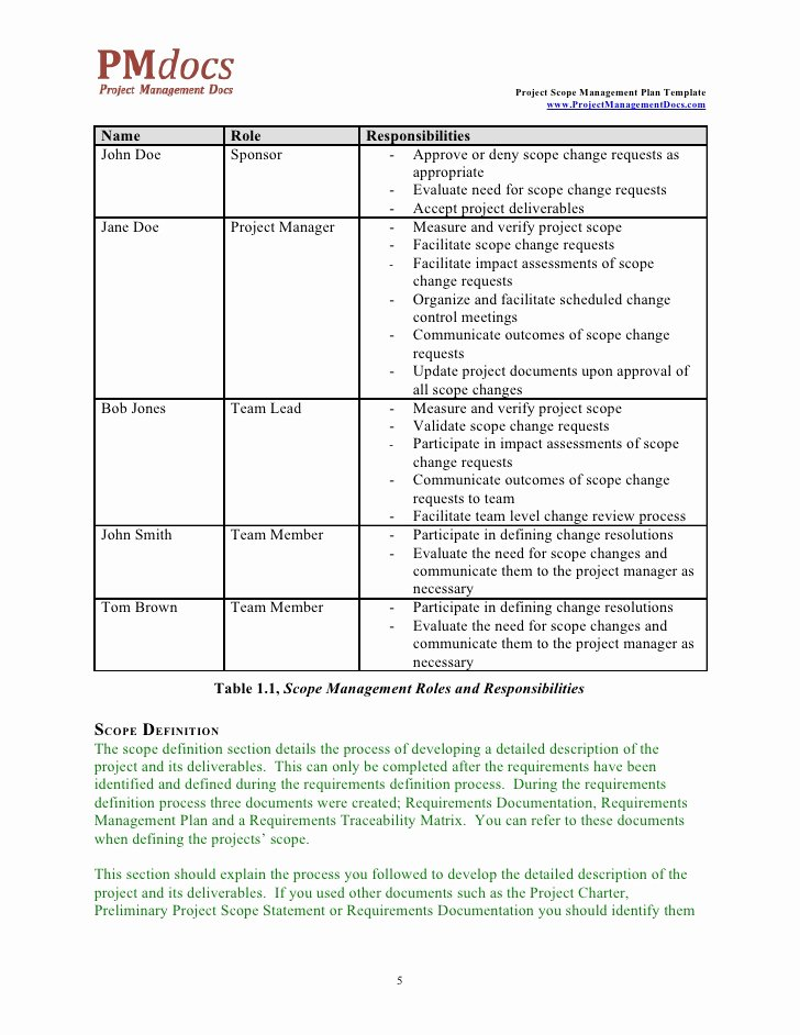 Scope Management Plan Template Best Of Accumounts Pe Scope Review Wowkeyword