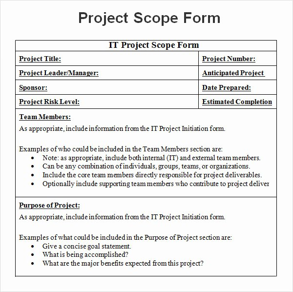 Scope Management Plan Template Luxury 8 Sample Project Scope Templates Pdf Word