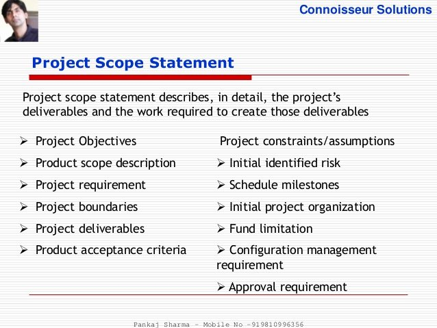 Scope Management Plan Template Luxury Project Scope Management Process