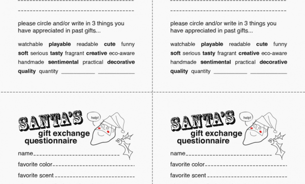 Secret Santa Template form Inspirational why You Must Experience Secret Santa